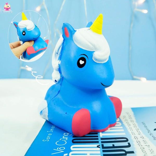 Squishy ngựa pony xanh