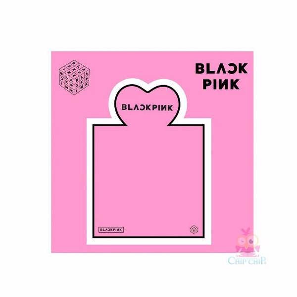 Sticker note Black pink