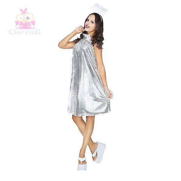 Váy thiên thần kín cổ