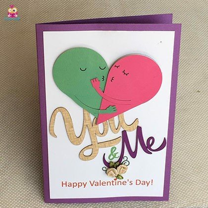 Thiệp you and me trung