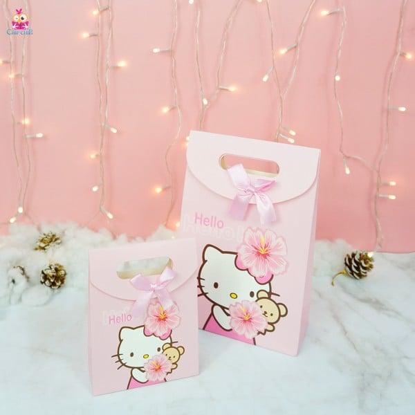 Túi giấy dán kitty