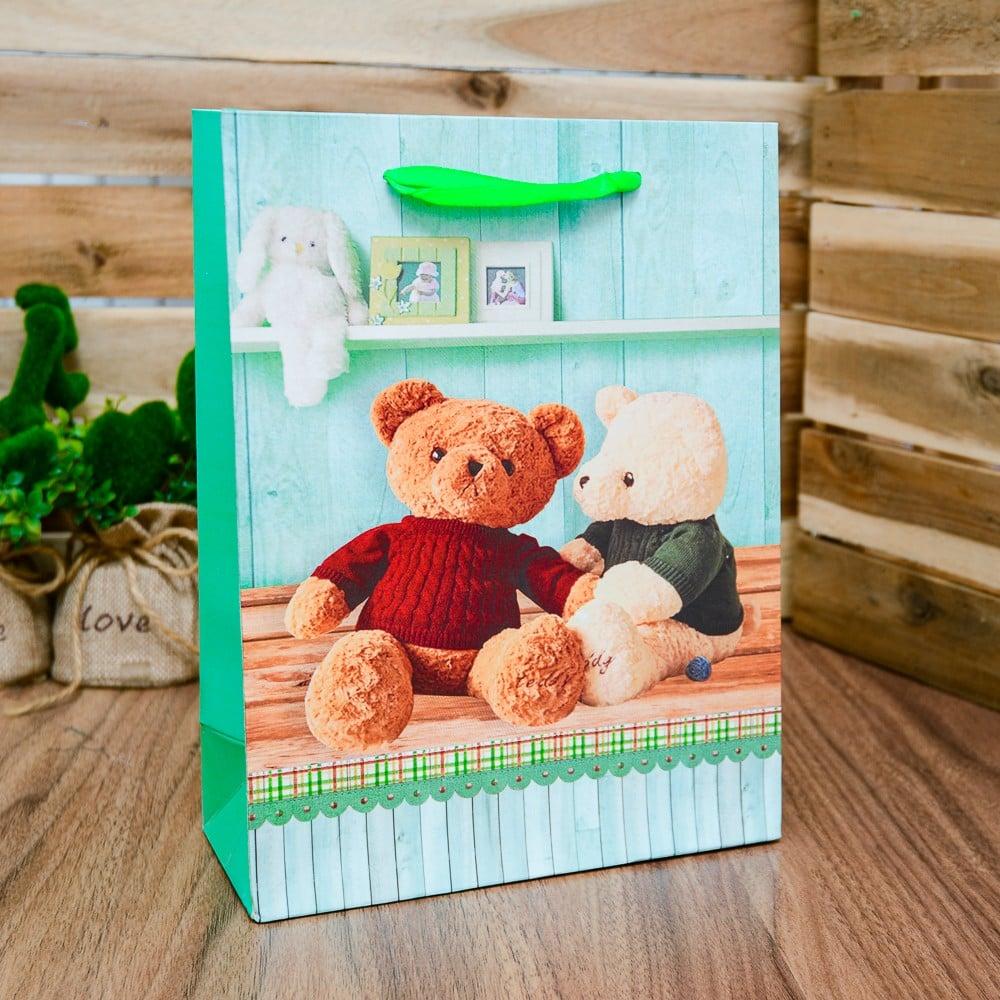 Túi quà giấy xách gấu cặp