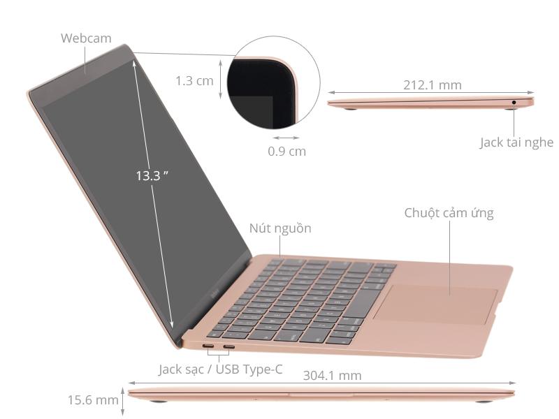 Laptop Apple Macbook Air 2019 i5 1.6GHz/8GB/128GB