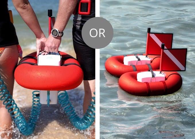 AirBuddy - Bình lặn đeo lưng, lặn được 45 phút, độ sâu tới 12m