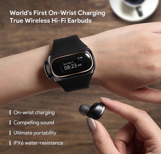 Wearbud - Tai nghe kết hợp đồng hồ đeo tay, trực tiếp sạc pin