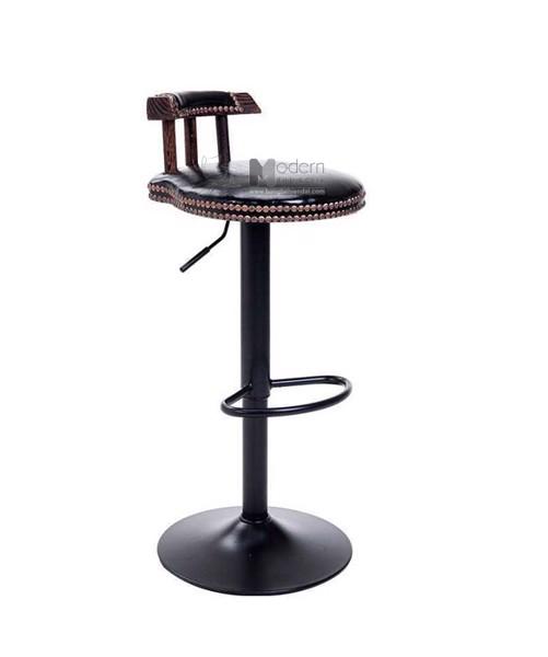 CB2141-P  Ghế quầy bar phong cách cổ điển tăng giảm chiều cao có lưng hcm