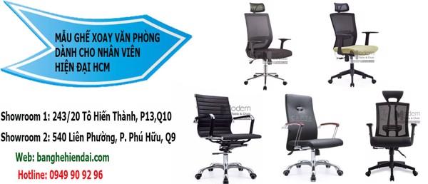 Mẫu Ghế xoay văn phòng dành cho nhân viên hiện đại Tp Hcm