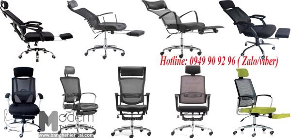 Top mẫu ghế trưởng phòng lưng lưới có gác chân cao cấp nhập khẩu