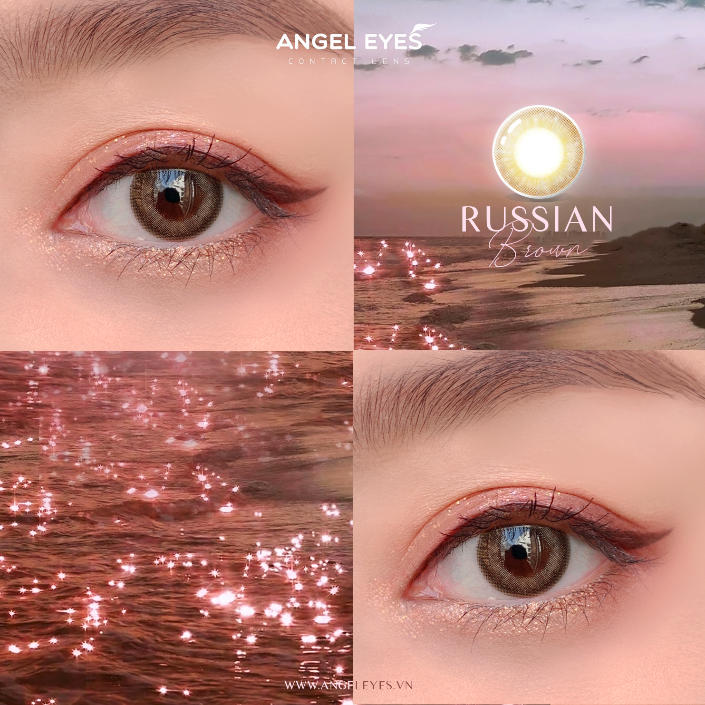 Kính áp tròng Silicone Hydrogel Russian Brown