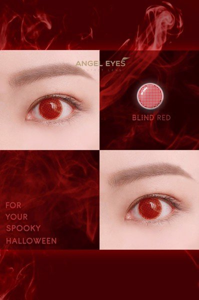 lens cosplay halloween blind red
