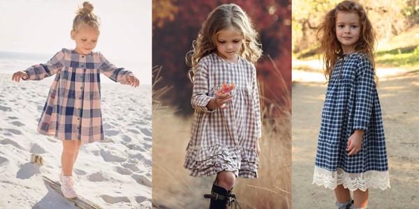 Chiếc đầm sọc caro bé có thể đi học, đi dạo phố hay tham gia các buổi tiệc