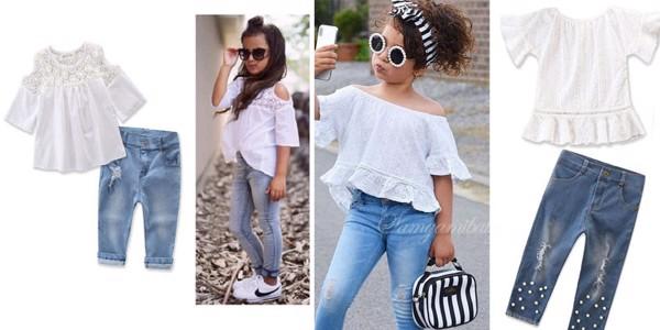 Gợi ý những mẫu jean cho bé gái 5 6 tuổi cực yêu