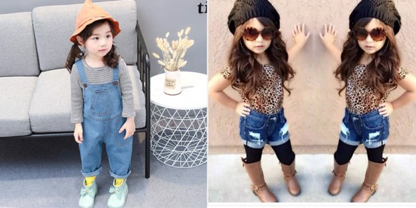 Bé Gà Mèo gợi ý mẹ cách phối quần jean cho bé gái cute, đáng yêu