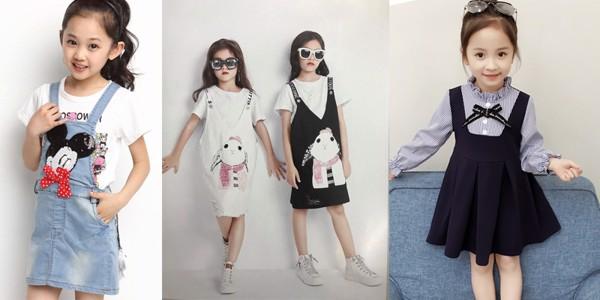 Những mẫu váy yếm xinh đẹp cho thời trang mùa đông của bé