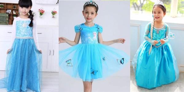 Váy elsa thu hút sự yêu thích của các bé