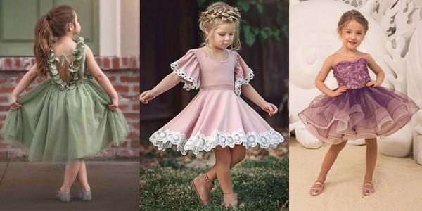 Bé nào cũng trông rất xinh xắn khi khoác lên mình những chiếc váy xoè đẹp