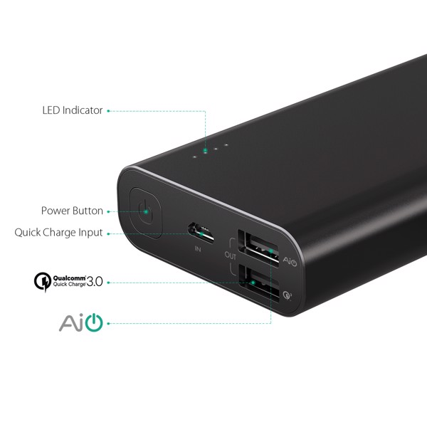 Aukey PB-AT20 với quick charge 3.0