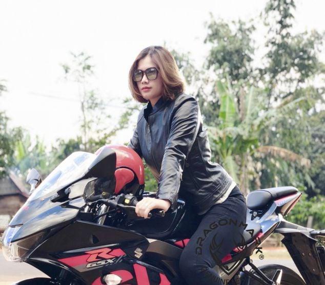 áo da moto nữ