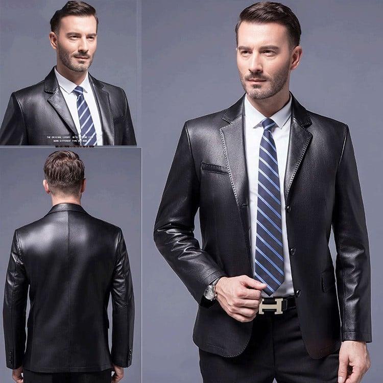 áo vest da nam