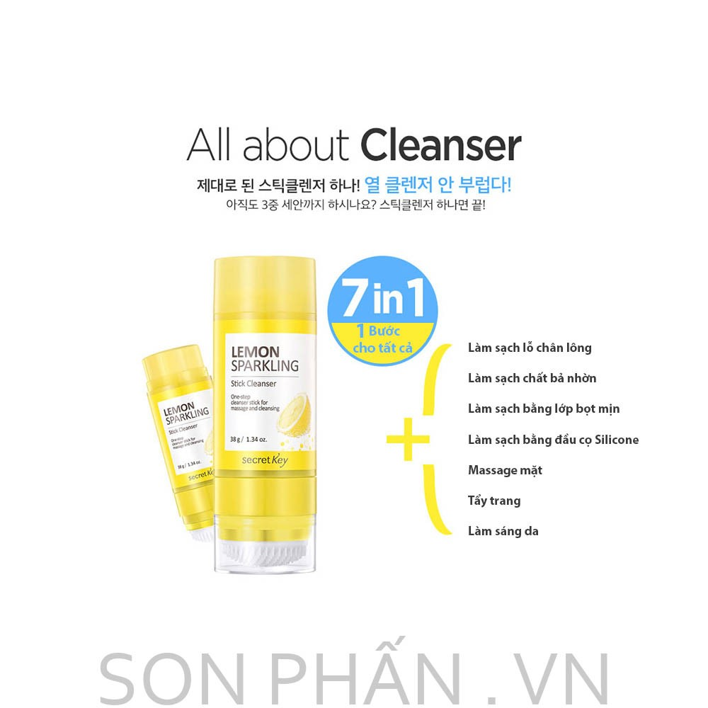 Sáp rửa mặt Secret Key Lemon Sparkling Stick Cleanser