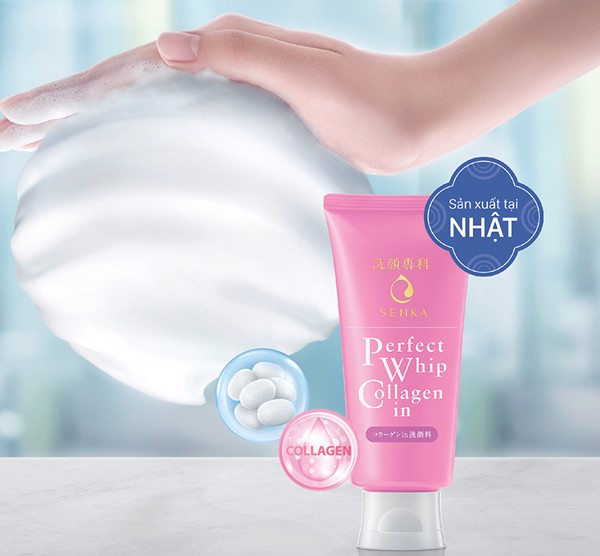 Sữa Rửa Mặt SENKA Perfect Whip Collagen In