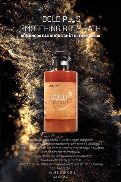 Sữa tắm gold plus zoley 800ml