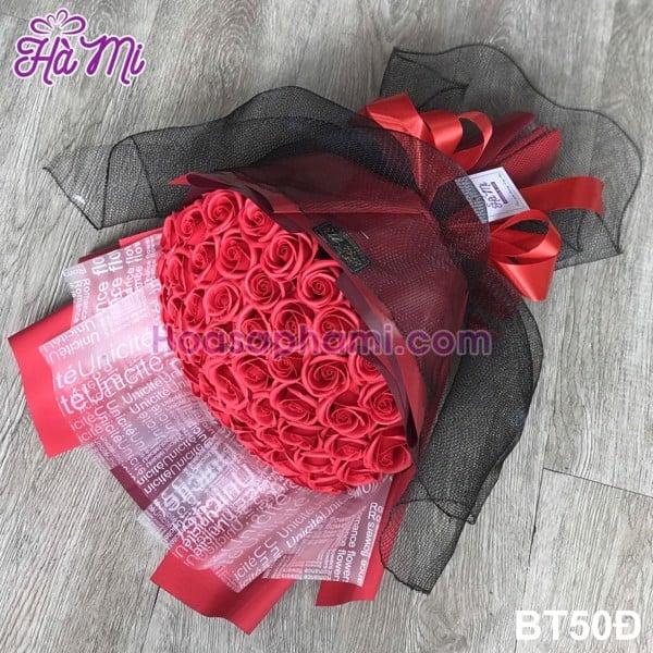 Bó hoa hồng sáp 50 bông