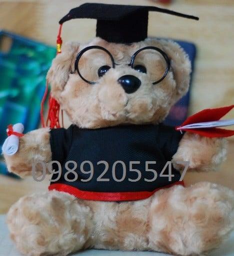 Gấu bông tốt nghiệp thêu logo Đại học Rmit