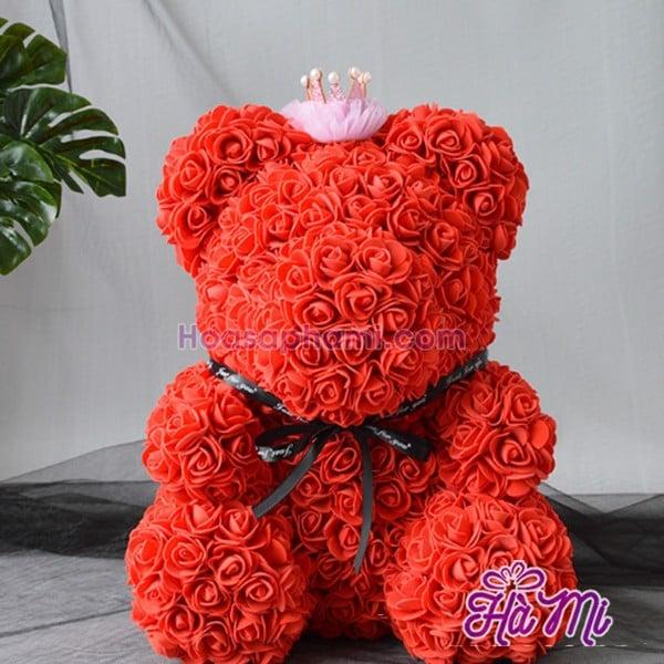 Gấu Bông Làm Bằng Hoa Hồng