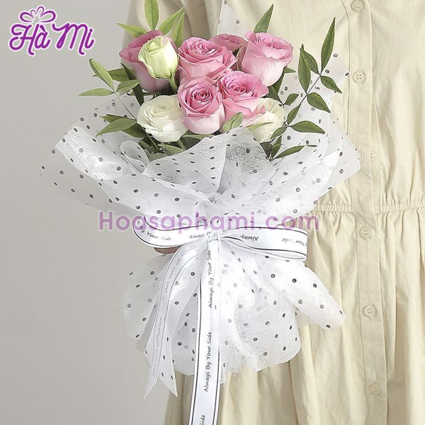 Giấy Gấm Gói Hoa