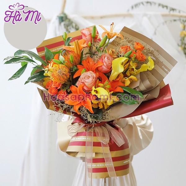 Giấy Gói Hoa Hai Mặt