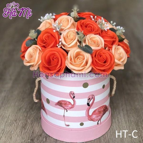 hộp trụ hoa sáp cao cấp