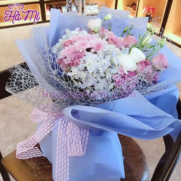 giấy lưới gói hoa
