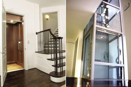 Bản vẽ thang bộ và thang máy nhà phố