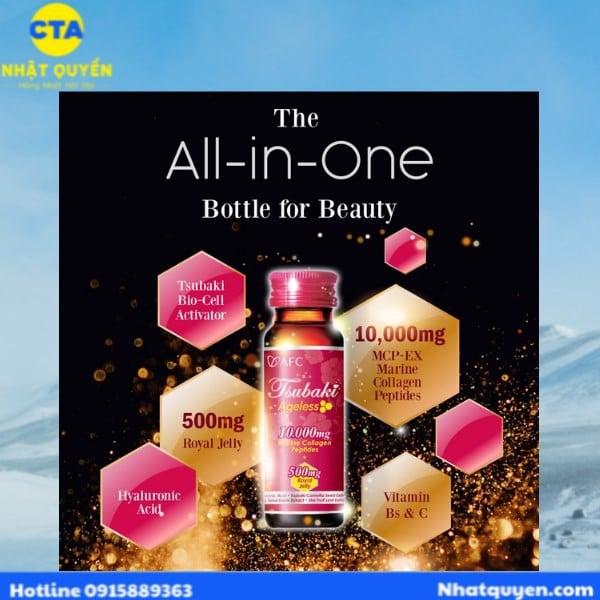 Nước uống đẹp da AFC Tsubaki Ageless Collagen