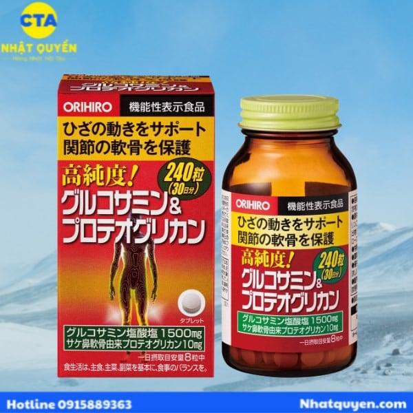 bo khop glucosamine proteoglycan orihiro