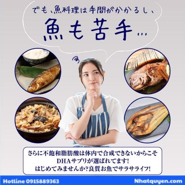 Viên uống dầu cá DHA&EPA Seedcoms Nhật Bản