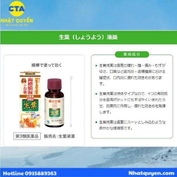 Dung dịch trị viêm chân răng Shoyo Kobayashi