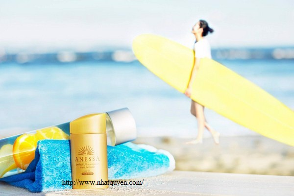 Anessa Perfect UV Sunscreen SPF50+ PA++++ màu vàng