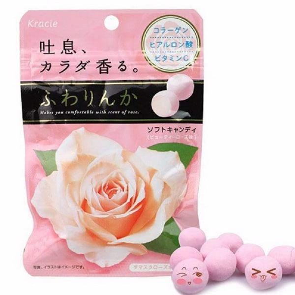 Kẹo hàm hương Kracie tinh chất hoa hồng Nhật Bản