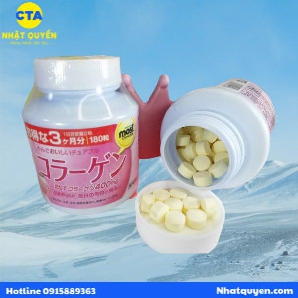 Kẹo Most Chewable bổ sung Collagen Orihiro 180 viên
