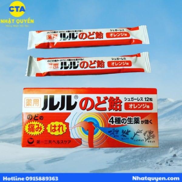Kẹo ngậm trị đau họng Lulu Nhật Bản