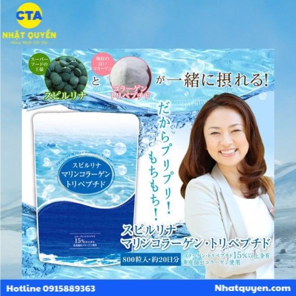 tảo xoắn collagen