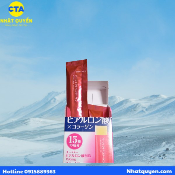Thạch Perfect Asta Hyaluronic Acid & Collagen Asahi