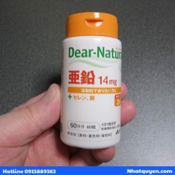 Viên uống bổ sung kẽm Dear Natura