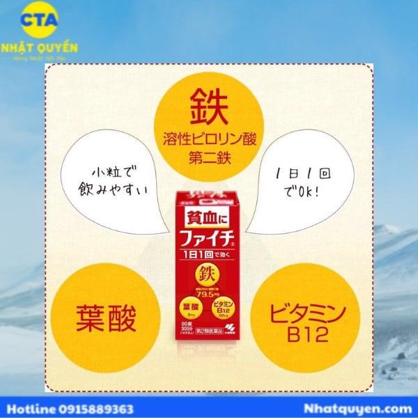 viên uống bổ máu Nhật Bản