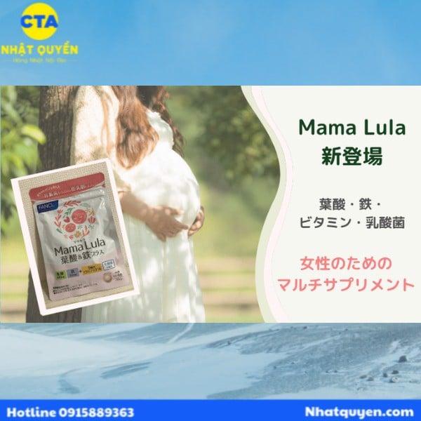 Viên uống bổ sung sắt và axit Folic Mama Lula Fancl