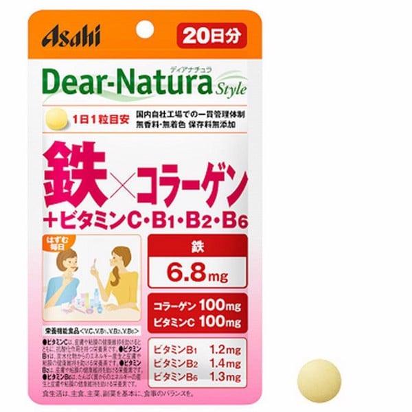 Viên uống tổng hợp collagen – vitamin và sắt Dear Natura Nhật Bản