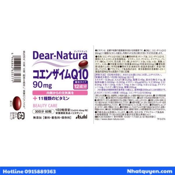 Coenzyme Q10 Asahi Dear Natura