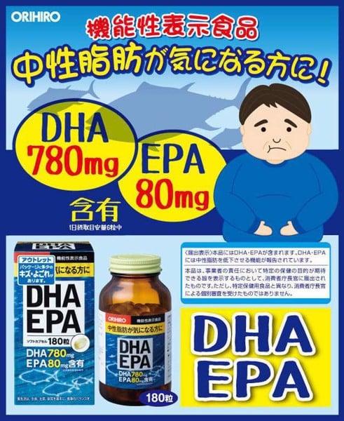 TPCN bổ não, sáng mắt DHA & EPA Orihiro Nhật Bản